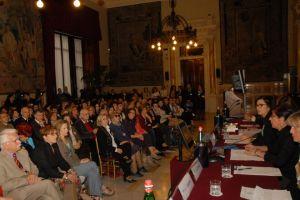 """La Presidente della Camera dei deputati, Laura Boldrini, durante l'iniziativa """"Le radici della nostra Repubblica. Trangoli di memoria"""""""