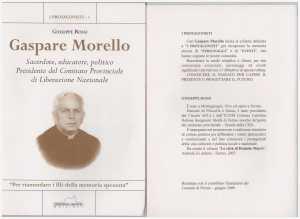 Copertina (fronte-retro) libro Prof. G. Rossi su Gaspare Morello