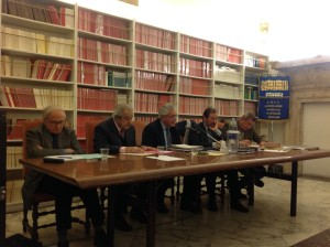 Da sinistra a destra: F.Malgeri, B. Ciccardini, A. Ciampani, A. Giovagnoli, G. Sangiorgi