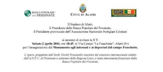 invito 2 Aprile Alatri