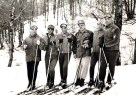 Anni Sessanta - La squadra delle Fiamme - il primo a sinistra è l'Azzurro Pompanin al centro il Comandante della squadra Capitano Enzo Climinti