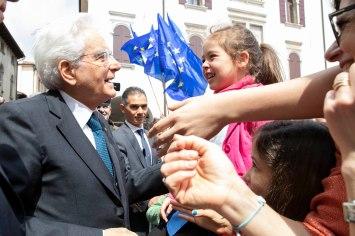 Il Presidente Sergio Mattarella a Vittorio Veneto,in occasione del 74° anniversario della Liberazione. (Foto di Francesco Ammendola - Ufficio per la Stampa e la Comunicazione della Presidenza della Repubblica)