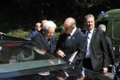 Il Presidnete della Repubblica Mattarella con il Consigliere Nazionale ANPC Aladino Lombardi