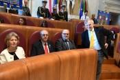 Da sinistra: Lombardi, Il Segretario Nazionale Maurizio Gentilini, Giovanni Cipriani (Segr. Gen. Conservazione del Libro) (