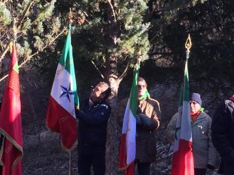 La bandiera di ANPC alla manifestazione